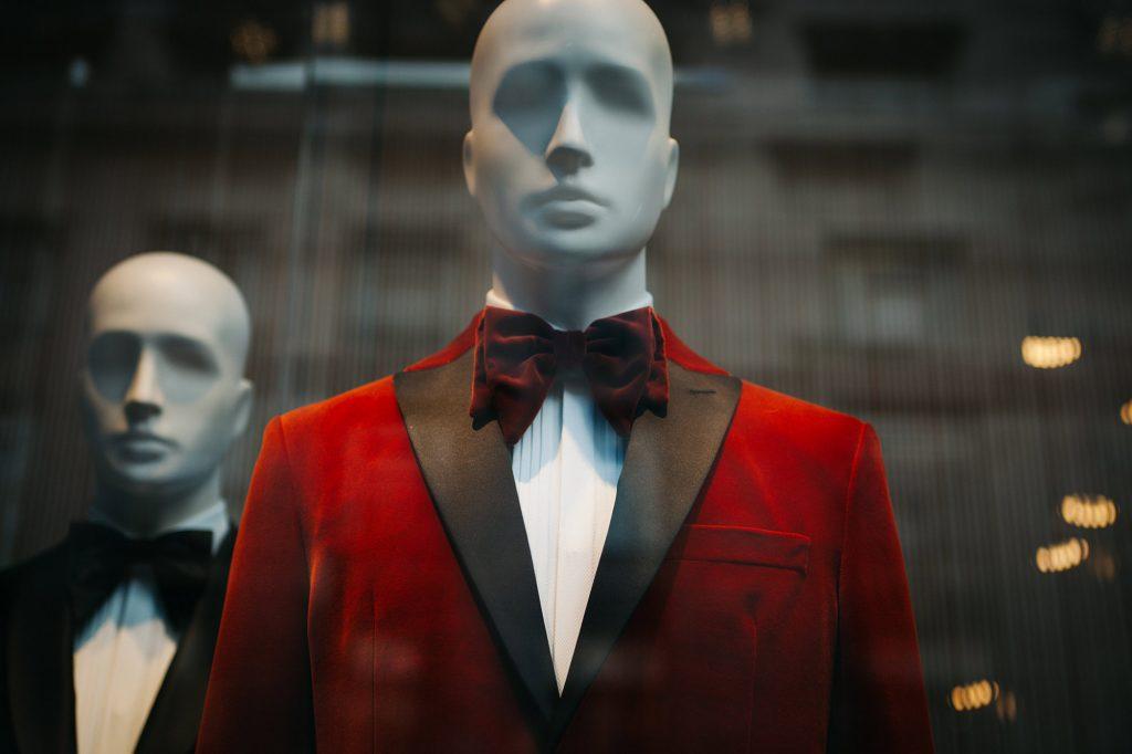 mode faire tache mannequin vitrine costume